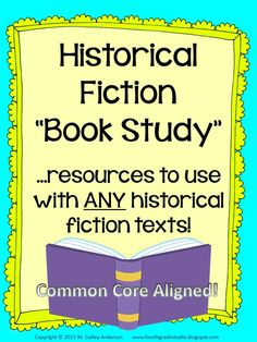 This resource is one I use with my historical fiction unit--one that includes literature circles/book clubs--and minilessons and activities are geared toward helping students meet the rigor of the Common Core. There are countless ways to use it! Minilessons are included to help you tackle this genre with short texts like picture books, but also with a more in-depth classroom book study.  $5.00