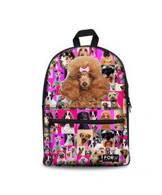 5868ddb5d6 Women s Girl s Pink Animal Backpack - poodle - CV12J2IR0VJ