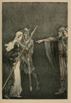 "Willy Pogany (1882-1955), Illustration pour ""The tale of Lohengrin, Knight of the Swan"" par T. W. Rolleston - 1914"