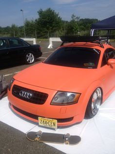not orange. The owners did this themselves; they did not only create a unique melon colored painted, but they made it matte! Probably one of the coolest people on Earth for doing this! My Dream Car, Dream Cars, Audi Tt, Mk1, Automobile, Boat, Earth, Orange, Autos