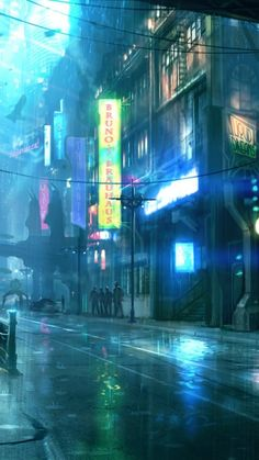 cyberpunk-futuristic-city-raining-street-lights-people-sci-fi.jpg (540×960)