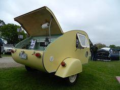 NEW Vintage Style Karavana Teardrop Camper Trailer Small Caravan | eBay