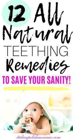 Here are 12 all natural baby teething remedies to save your sanity! Teething remedies that will help soothe your baby both day and night! Baby Teething Remedies, Natural Teething Remedies, Natural Remedies, Teething Babies, Babies First Year, First Time Moms, Baby Care Tips, Baby Tips, Natural Parenting