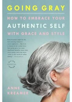 I hope when my hair really starts graying, it looks cute like this! // Going Gray - How to Embrace Your Authentic Self with Grace and Style by Anne Kreamer. Going Gray Gracefully, Aging Gracefully, Hair Dos, My Hair, Curly Hair, Grey Hair Looks, Coiffure Hair, Natural Hair Styles, Short Hair Styles