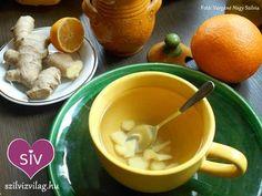 Gyömbér tea készítése + Gyömbér tea recept - Szilvi ÍzVilág Tea, Ethnic Recipes, Food, Essen, Meals, Yemek, Teas, Eten