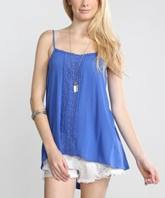 Look what I found on #zulily! Blue Lace Camisole #zulilyfinds…also in white