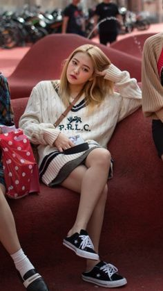 """""""she's so effortlessly beautiful :("""" Kpop Fashion, Girl Fashion, Airport Fashion, Style Fashion, Fashion Ideas, Fashion Trends, My Girl, Cool Girl, Red Velvet Photoshoot"""