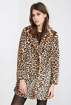 Leopard Print Faux Fur Coat | FOREVER21 - 2000101200