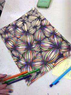 Art at Becker Middle School: Falling into Op Art