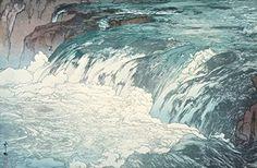 "Japanese Art Print ""Rapids (Keiryu)"" by Yoshida Hiroshi. (Color 2) Shin Hanga and Art Reproductions http://www.amazon.com/dp/B00YMIJ68I/ref=cm_sw_r_pi_dp_3qTvwb0ZNAWSZ"