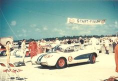 Dick Thompson's Corvette at the 1956 Nassau Speed Week