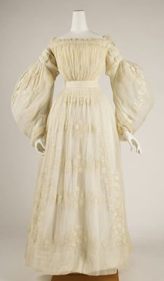 Wedding Dress, circa 1837
