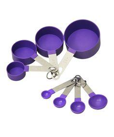 Look at this #zulilyfind! Purple 8-Piece Measuring Set by Vanderbilt Home #zulilyfinds