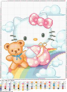 Cross Stitch World: Hello kitty rainbow