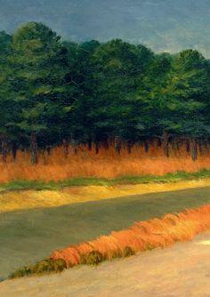 Gas (Detail) - Edward Hopper 1940, American 1882-1967 Oil on canvas, 66.7 x 102.2 cm, Museum of Modern Art, New York.