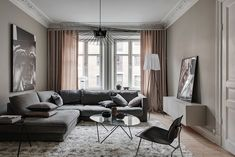 Peek Inside a Pared-Down Swedish Home with a Layered Look - Nordic Design Interior Design Living Room Warm, Study Interior Design, Living Room Arrangements, Design Blog, Swedish House, Living Room Furniture, Home Decor, Stylish, Carpet Colors