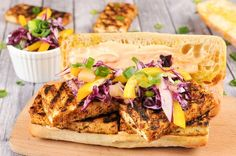 sandwich perfection. Protein-rich tofu is coated with Jamaican jerk ...