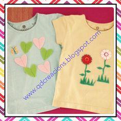 Camisetas verano con motivos troquelados de fieltro.