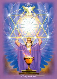 Lord Melchizedek ~ Stay Connected to Spirit and Listen to The Loving Gui. Archangel Prayers, Kundalini Meditation, Legends And Myths, Indigo Children, Ascended Masters, Angels Among Us, Visionary Art, Oracle Cards, Flower Of Life
