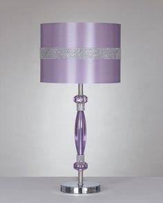 purple bling lamps