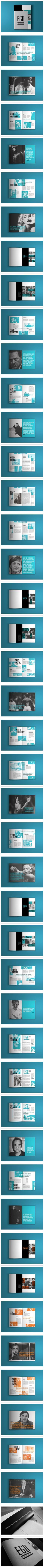 EGO: black & white & turquoise | typography / graphic design: EGO Editorial Design, collaboration David Salgado, Mariana Perfeito |: