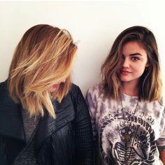 Lucy Hale - medium length hair