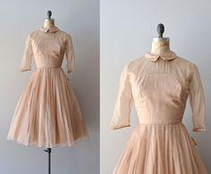 Jeunesse dress / vintage 1950s dress / 50s silk by DearGolden, $278.00