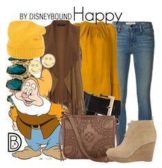 """""""Happy"""" by leslieakay ❤ liked on Polyvore featuring Frame Denim, Kitx, Vince Camuto, Dorothy Perkins, T-shirt & Jeans, MICHAEL Michael Kors, malo, Sydney Evan, disney and disneybound"""