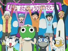 most of the sgt frog gang
