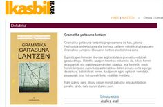 HABE publica en la web Ikasbil un pdf y ejercicios online para trabajar la gramática en euskera