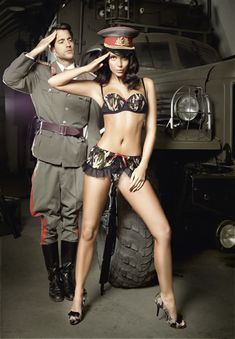 Trooper Camo Lingerie Set