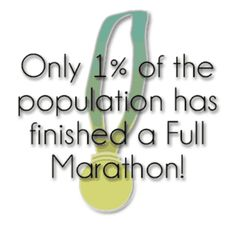 Be part of the 1% #26point2 #marathon
