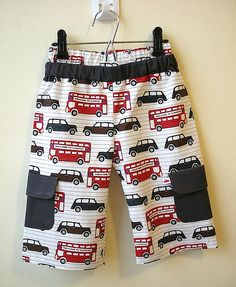 London Bus Pant | by Lollipop Garden Crafts (love the fabric print)