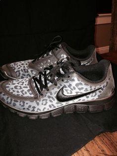Womens Nike Free 5.0 Grey Leopard Print #Nike #RunningCrossTraining