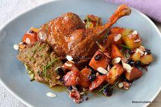 Rață cu gutui caramelizate și coniac rețeta de friptură la cuptor | Savori Urbane Carne, Turkey, Meat, Food, Fine Dining, Peru, Turkey Country, Hoods, Meals