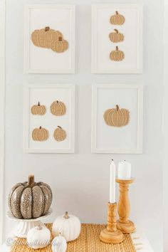 DIY burlap pumpkin wall art by Songbird, featured on New Upcycled Projects to Make 600