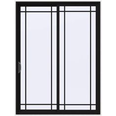 JELD-WEN 72 in. x 96 in. V-4500 Black Prehung Left-Hand Sliding 9 Lite Vinyl Patio Door with White Interior - THDJW155900528 - The Home Depot