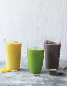 Looking for a great way to start your day? My friend, brain doctor Drew Ramsey, prescribes these gorgeous nutrient-packed smoothies in his new book Eat Complete. Oh, YUM!