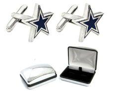 Dallas Cowboys Cufflinks 2012-2013 Edition *FREE Chrome Gift / Display Box .... $59.95. Official & Standard Size. Dallas Cowboys Cufflinks. Included: One Pair (2 Cufflinks) Cufflinks. Brand New. *FREE Chrome Gift / Display Box $20 Value*