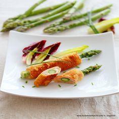 Spargel-Cordon-Bleu Sauce Hollandaise, Asparagus, Green Beans, Vegetables, Food, Leafy Salad, Best Asparagus Recipe, Easy Meals, Food Food