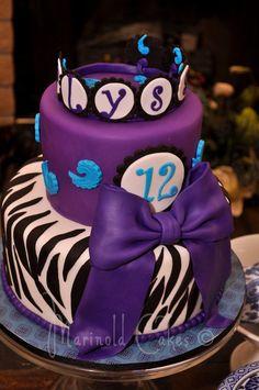 purplr cheetah cake decorations | Purple Zebra Birthday Cake - by MarinoldCakes @ CakesDecor.com - cake ...