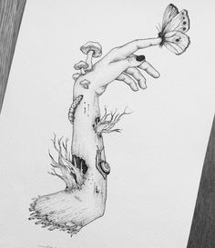 Ideas love art drawing sketches creative for 2019 Inspiration Art, Art Inspo, Art Drawings Sketches, Trippy Drawings, Dark Art Drawings, Drawings Of Plants, Tattoo Drawings, Drawings Of Love, Cool Drawings Tumblr
