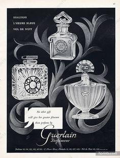 Guerlain (Perfumes) 1956 Vol De Nuit, Shalimar, L'heure Bleue