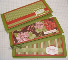 Gift Card Holder-Money  stampin up