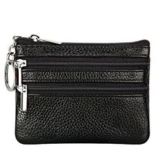 ac33e8773e93d Women s Genuine Leather Coin Purse Mini Pouch Change Wallet with Key Ring  Review