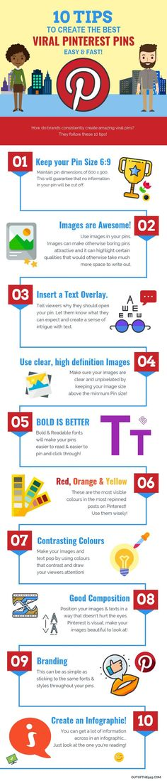10 Tips to create the best Viral Pinterest Pins! How do you make pins go viral? Follow these 10 Tips to Crease the best Viral Pinterest Pins fast! This infographic takes you through the 10 steps you need to know. Pin design tips & more. | #Pinterest #PinDesign #GraphicDesign | Outofthe925.com