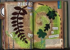 Thinking of doing something like this with my middle schoolers...maybe just give them a page from a book?  Find an inspiring word on the page then draw, embellish, paint, collage...whatever they want.  Hmmm.