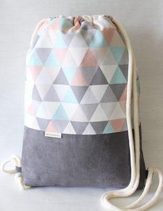 Backpack Bags, Fashion Backpack, Tote Bag, Drawstring Backpack Tutorial, Mochila Adidas, Back Bag, Fabric Bags, Cotton Bag, Zipper Bags