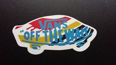 VANS Off The Wall Skateboard Sticker / Luggage by iDecalsCoUk