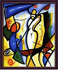Image result for 3 section abstract picasso painting